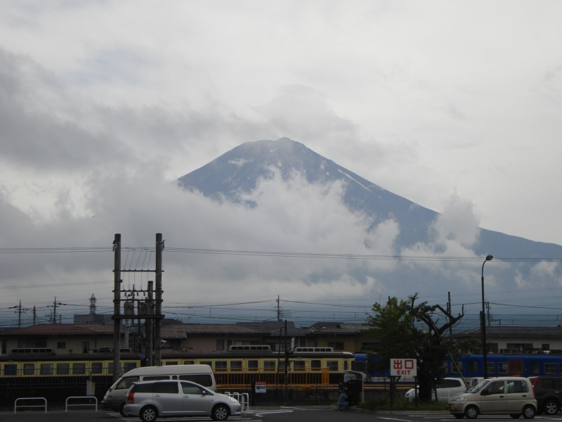 Here is Mt. Fuji as you get a little closer from Tokyo.  Still beautiful, but lifeless and grey.