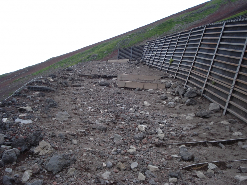 It isn't pretty, but this is what a lot of the climb up Mt. Fuji looks like under your feet.