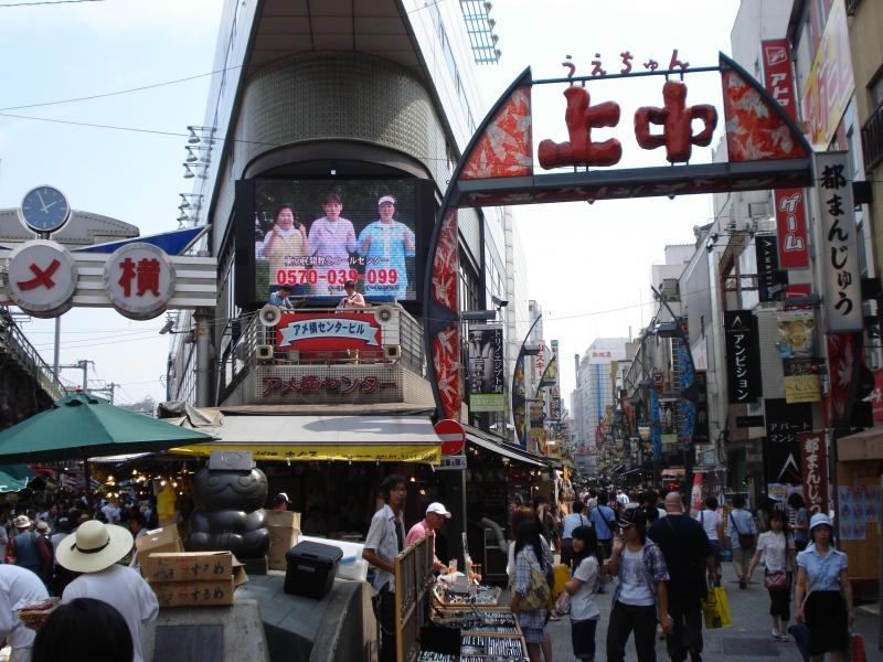 This is a famous shopping district in Ueno.
